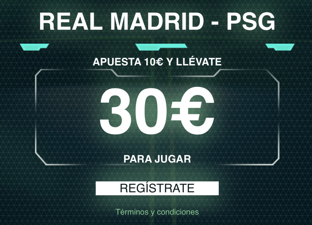 Supercuota Codere Champions League : Real Madrid - PSG.