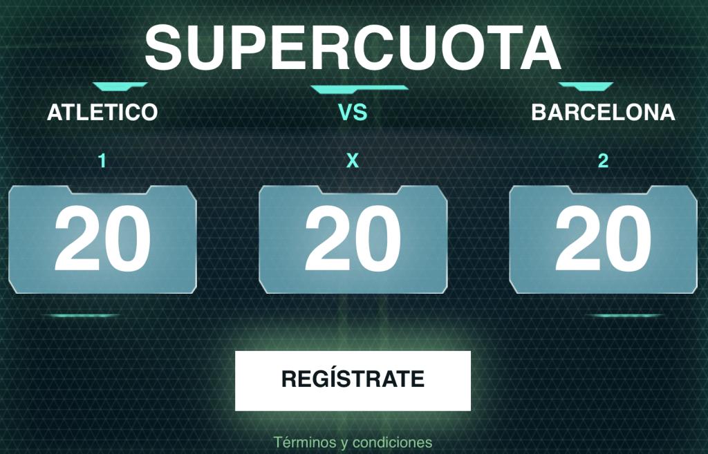 Supercuota Codere Liga : Atlético de Madrid - FC Barcelona