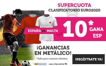 Supercuota Wanabet Euro 2020 : España gana a Malta a cuota 10.