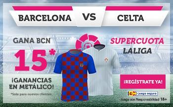 Supercuota Wanabet Barcelona gana al Celta a cuota 15.