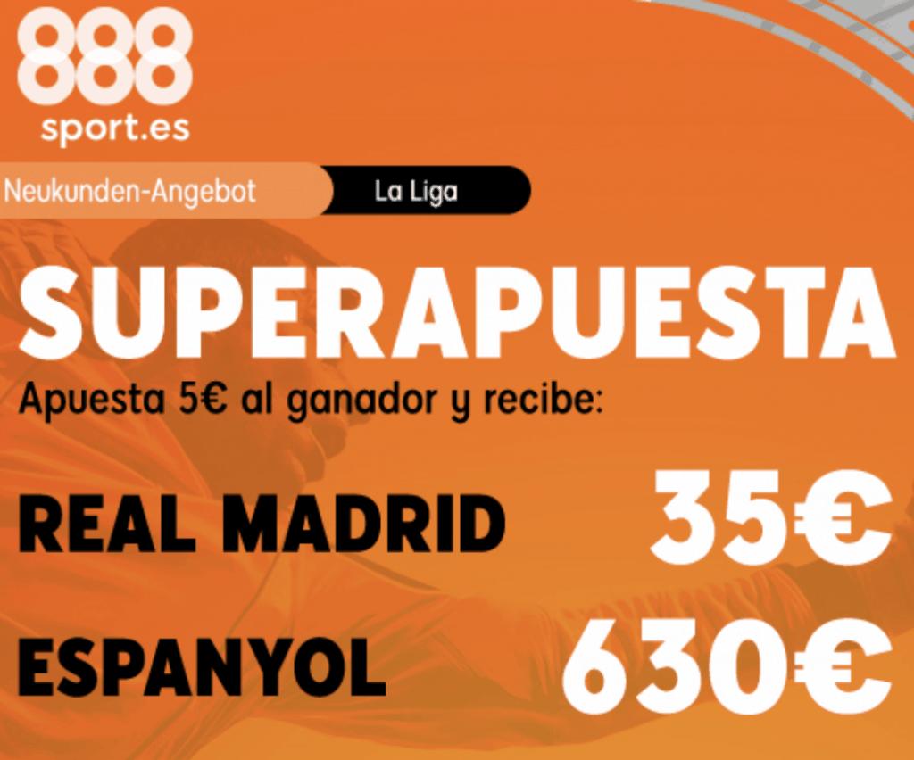 Superapuesta 888sport : Real Madrid - Espanyol.