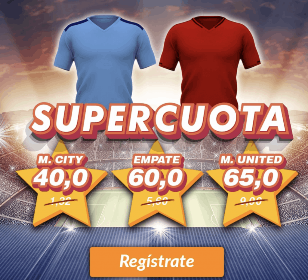 Supercuota Casino Barcelona Manchester City - Manchester United.