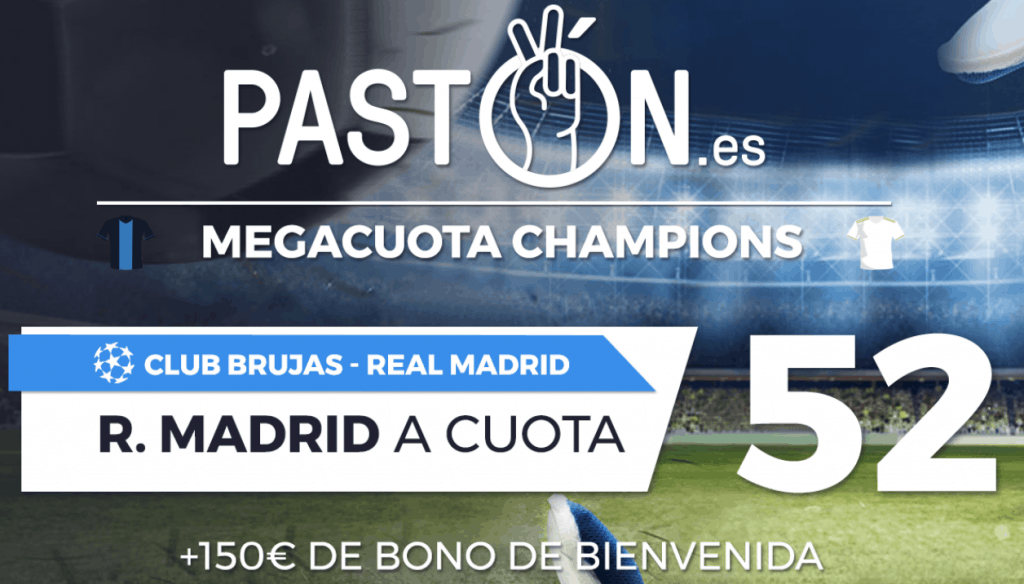 Supercuota patón Champions League : Brujas - Real Madrid.