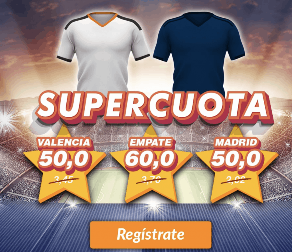 Supercuota Casino Barcelona Valencia CF - Real Madrid