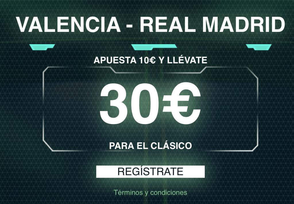 Supercuota Codere Valencia - Real Madrid