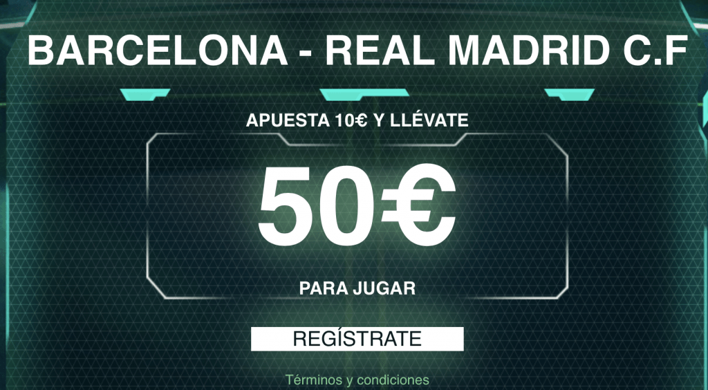 Supercuota Codere El Clásico Fc Barcelona - Real Madrid