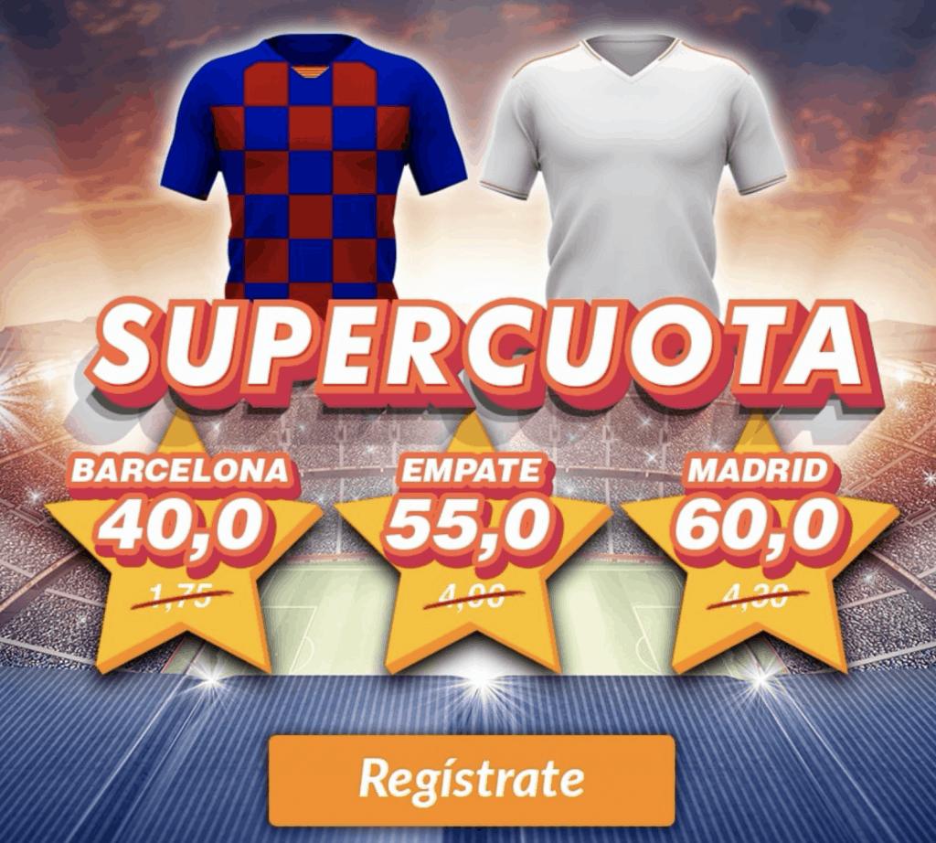 Supercuota Casino Barcelona El Clásico FC Barcelona - Real Madrid