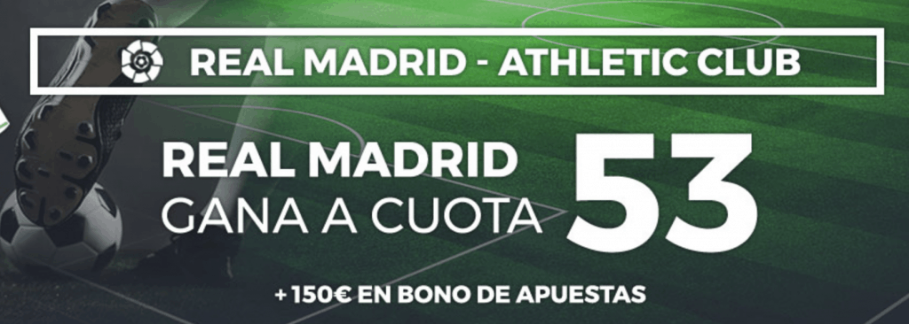 Supercuota pastón Real Madrid gana al Athletic a cuota 53