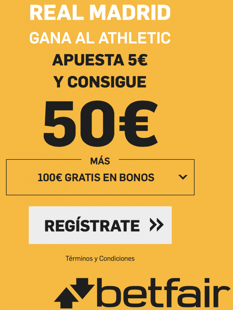 Supercuota betfair Real Madrid - Athletic