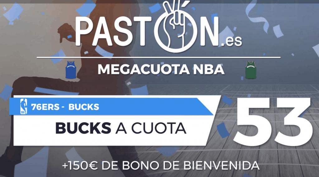 Supercuota pastón Milwaukee Bucks gana a Philadelphia 76ers