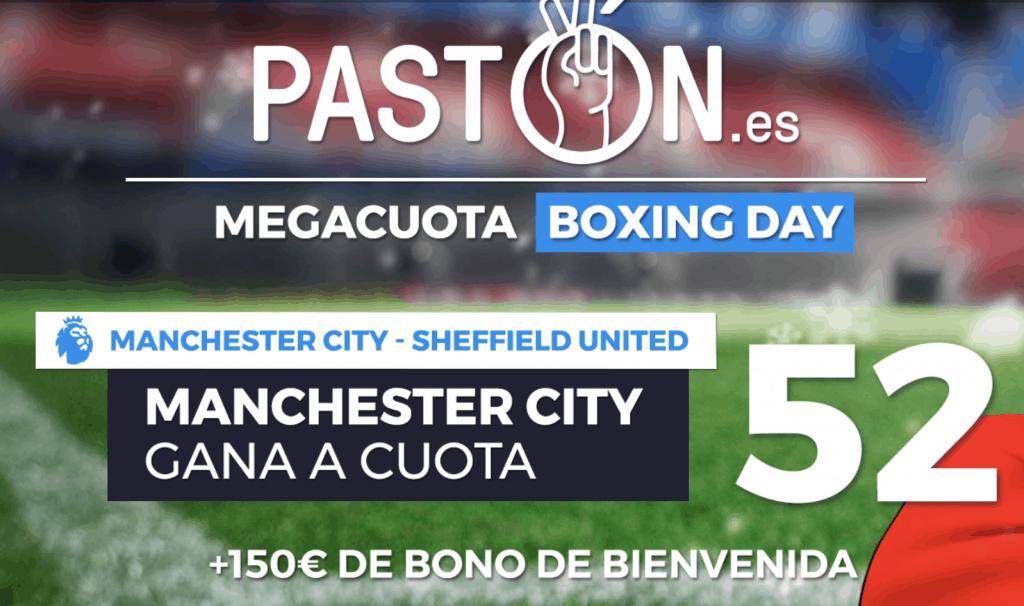 Supercuota pastón Premier League Manchester City - Sheffield