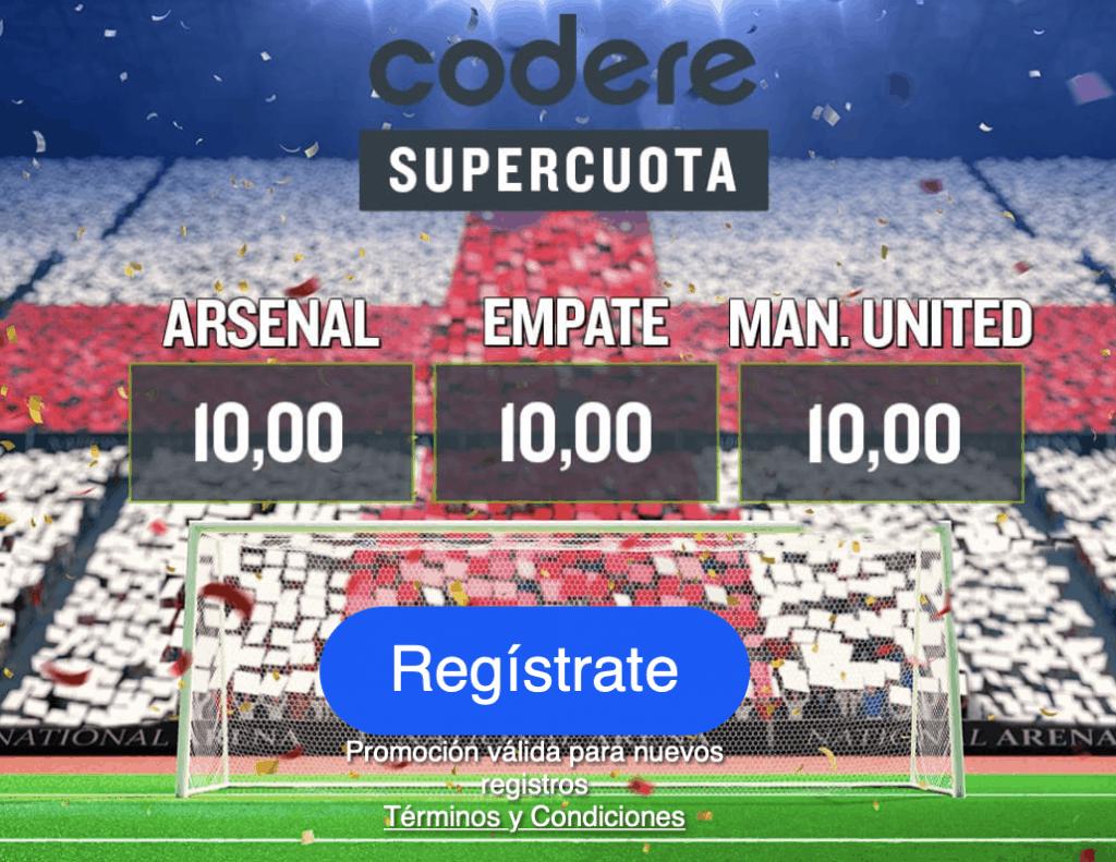 Supercuota Codere Arsenal - Manchester United