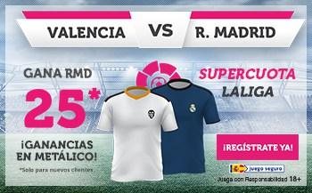 Supercuota Wanabet La Liga Valencia - Real Madrid