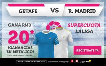 Supercuota Wanabet Real Madrid gana al Getafe a cuota 20