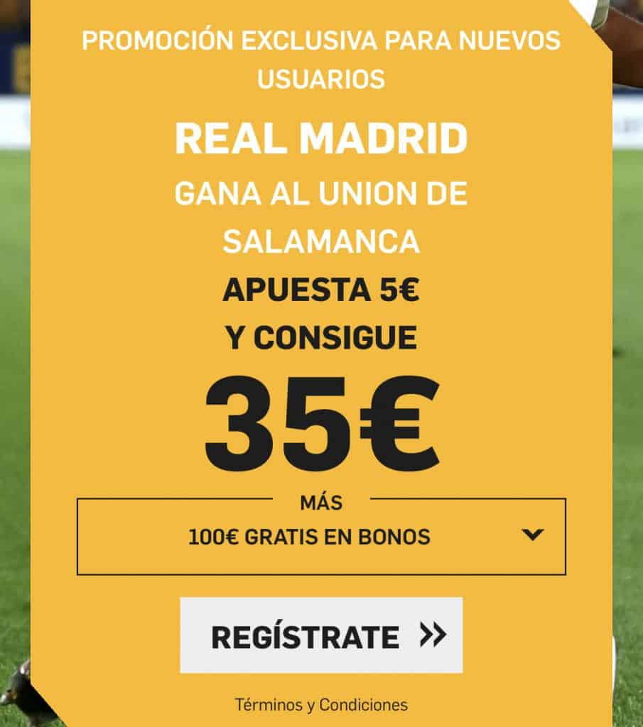 Supercuota betfair Unionistas - Real Madrid