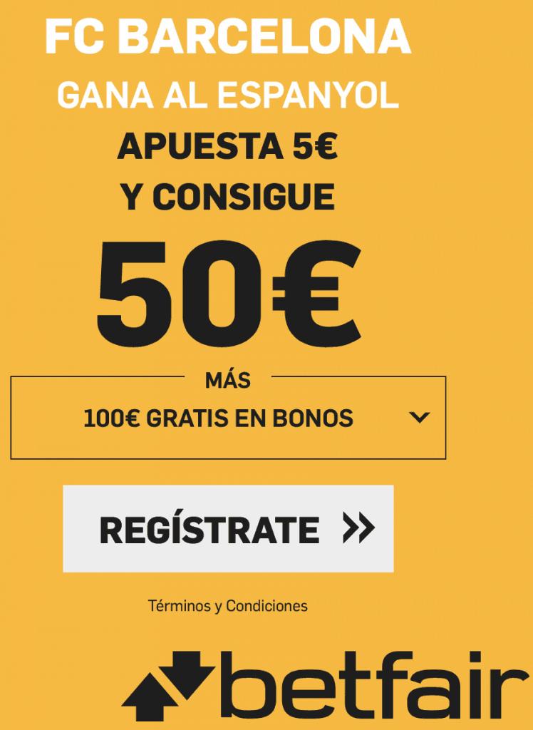 Supercuota betfair Espanyol - Fc Barcelona