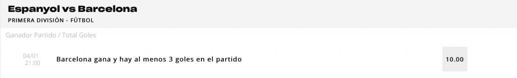 Supercuota Versus Espanyol - Fc Barcelona