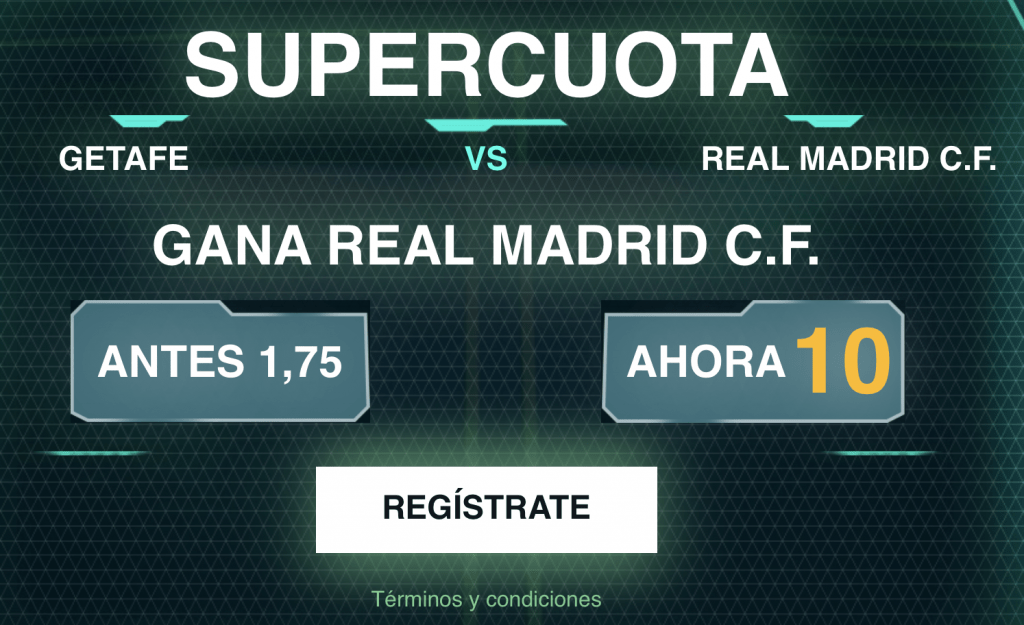 Supercuota Codere Getafe - Real Madrid