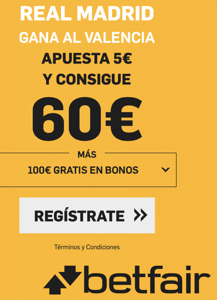 Supercuota betfair Supercopa Valencia - Real Madrid