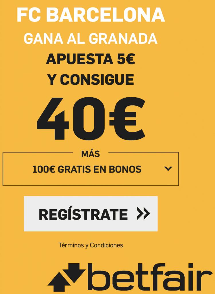 Supercuota betfair FC Barcelona - Granada