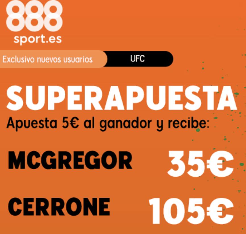 Supercuota 888sport UFC McGregor - Cerrone