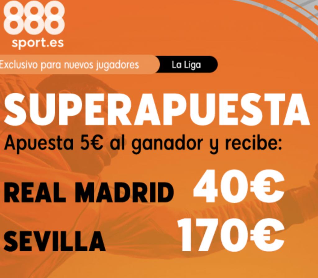 Supercuota 888sport Real Madrid - Sevilla FC