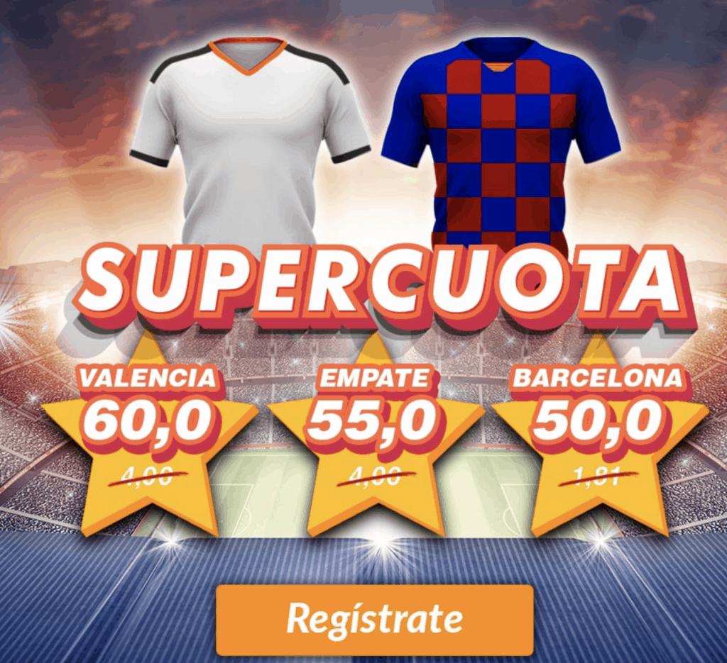 Supercuota Casino Barcelona La Liga : Valencia CF - FC Barcelona
