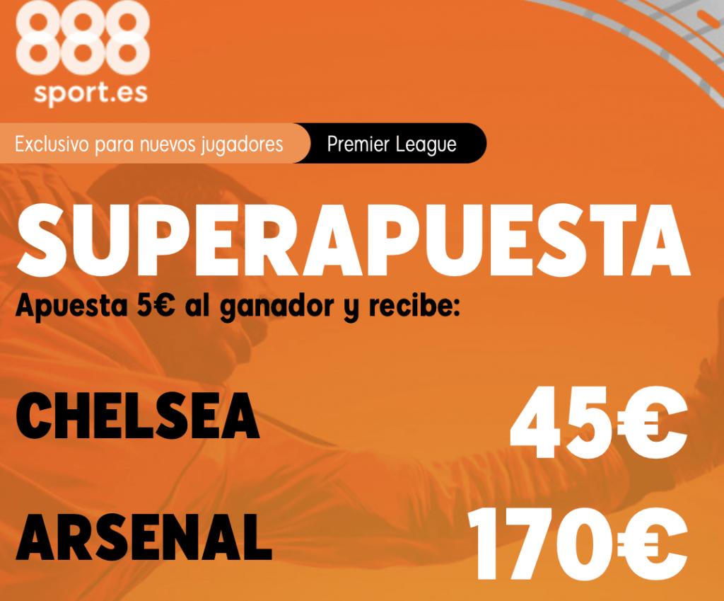 Supercuota 888sport Premier League : Chelsea - Arsenal