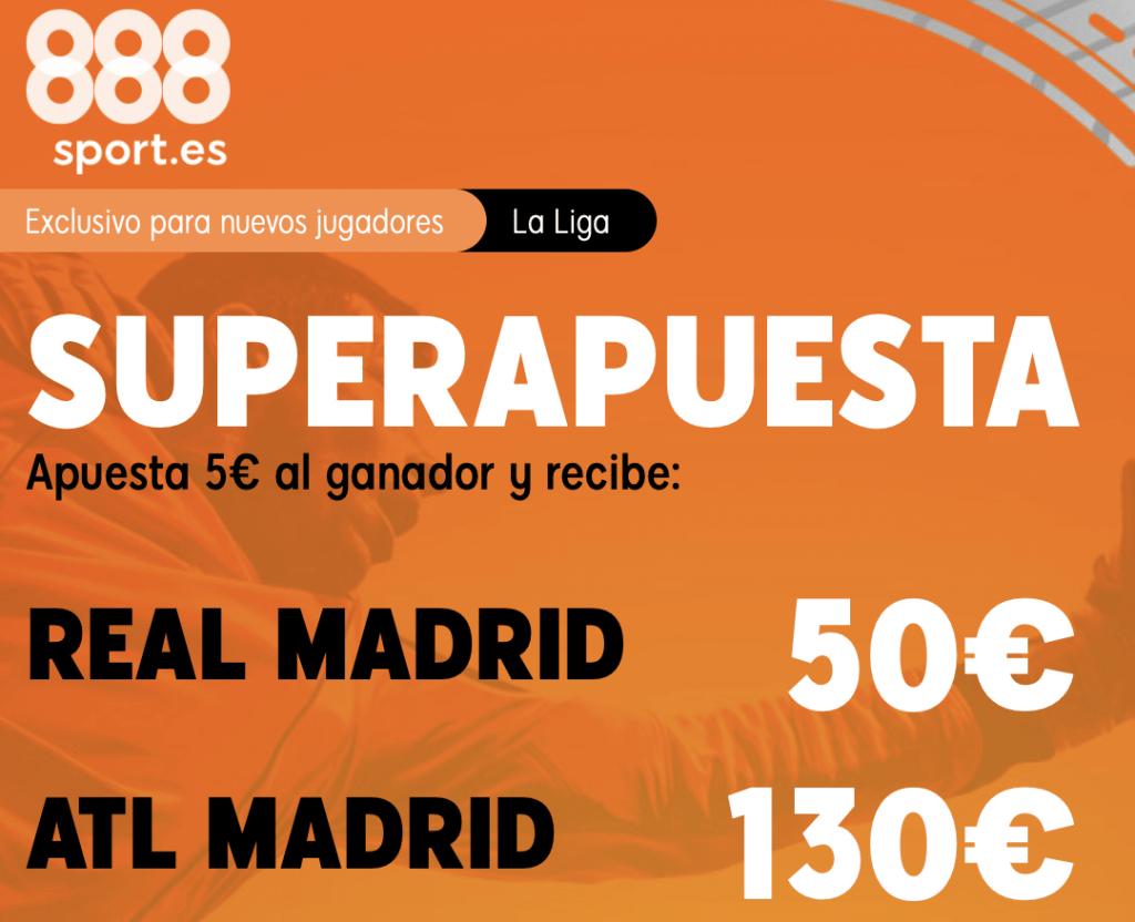Supercuota 888sport Real Madrid - Atlético de Madrid