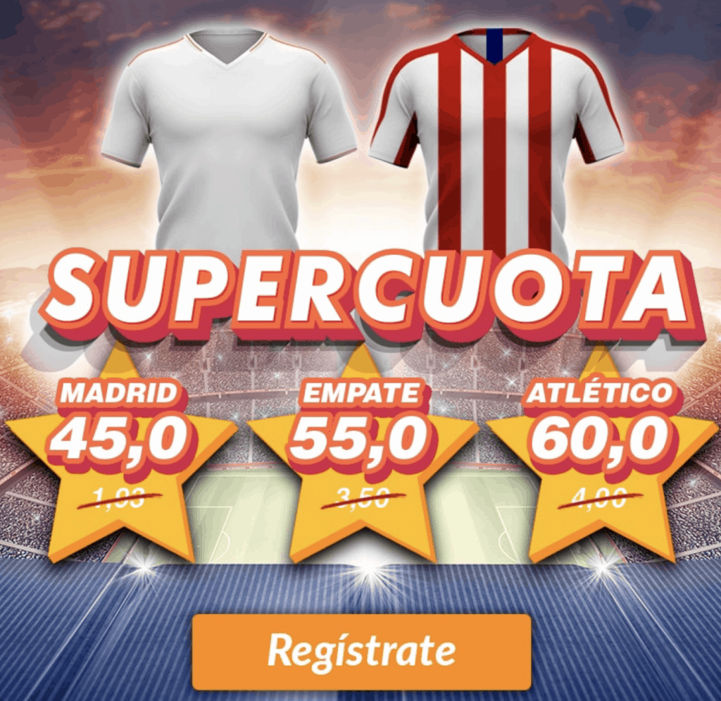 Supercuota Casino Barcelona : Real Madrid - Atlético de Madrid
