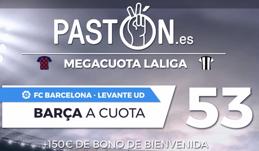 Supercuota pastón Barcelona gana al Levante a cuota 53.