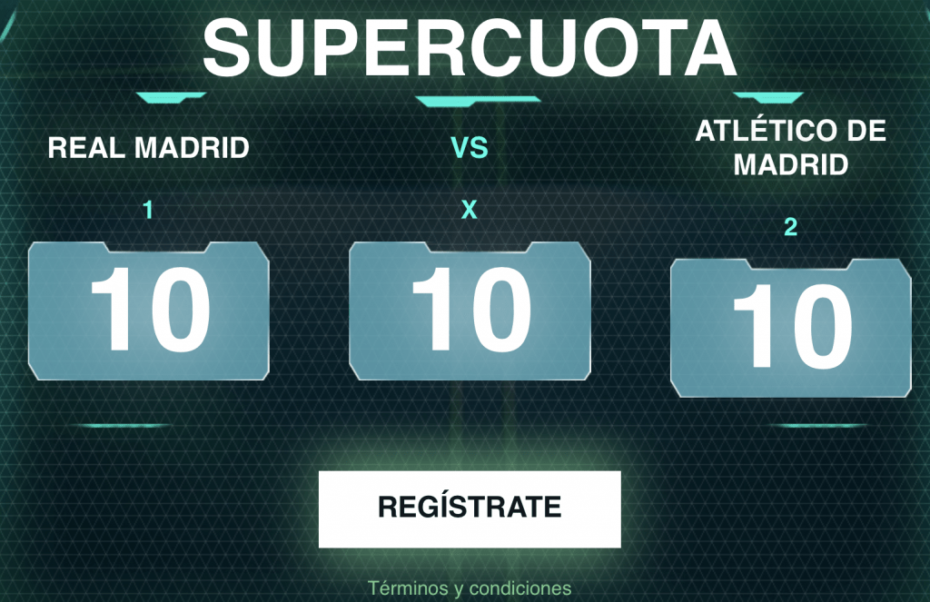 Supercuota Codere Real Madrid - Atlético de Madrid