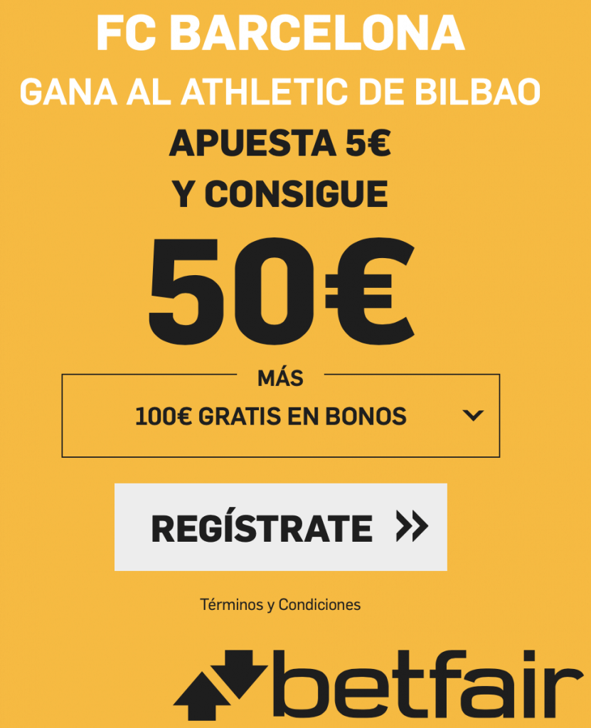 Supercuota betfair Copa del Rey : Athletic - FC Barcelona