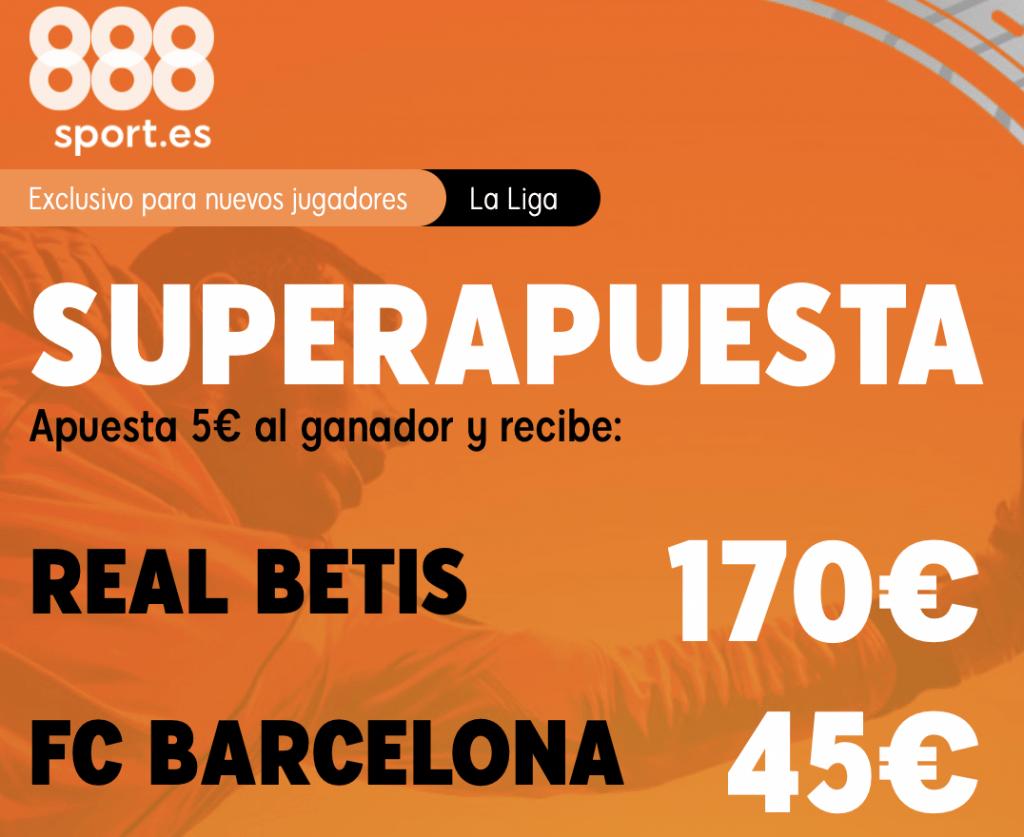 Supercuota 888sport Real Betis - Fc Barcelona