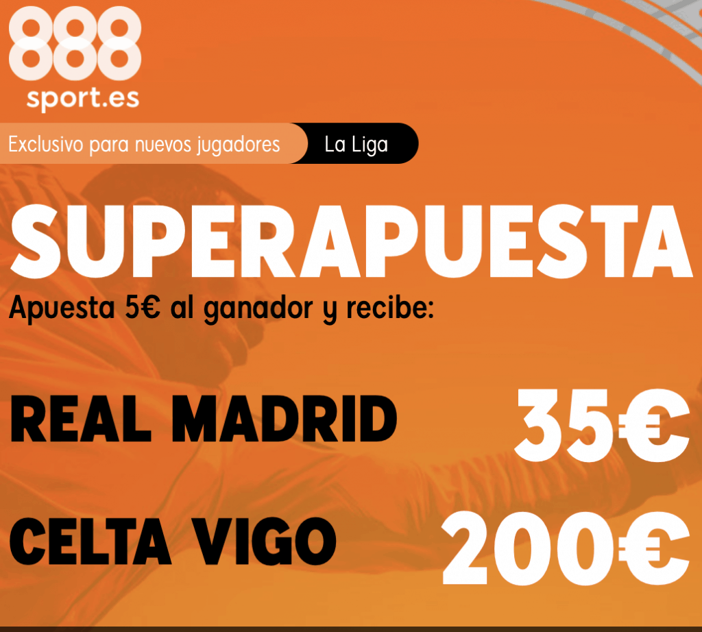 Supercuota 888sport Real Madrid - Celta