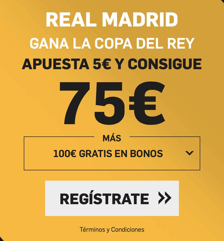 Supercuota betfair Copa del Rey Baloncesto Real Madrid gana a cuota 15