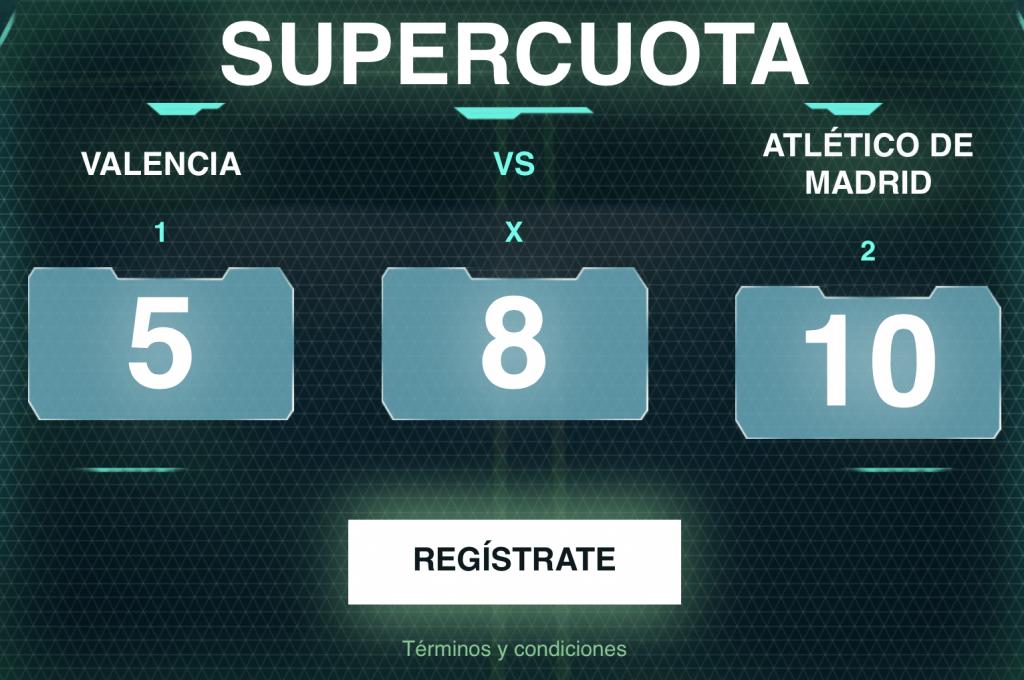 Supercuota Codere Liga : Valencia - Atlético de Madrid