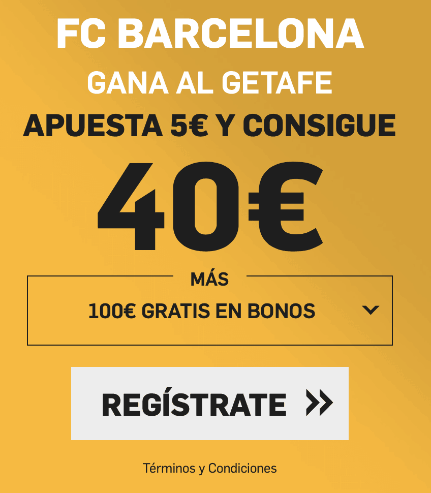 Supercuota betfair Fc Barcelona - Getafe