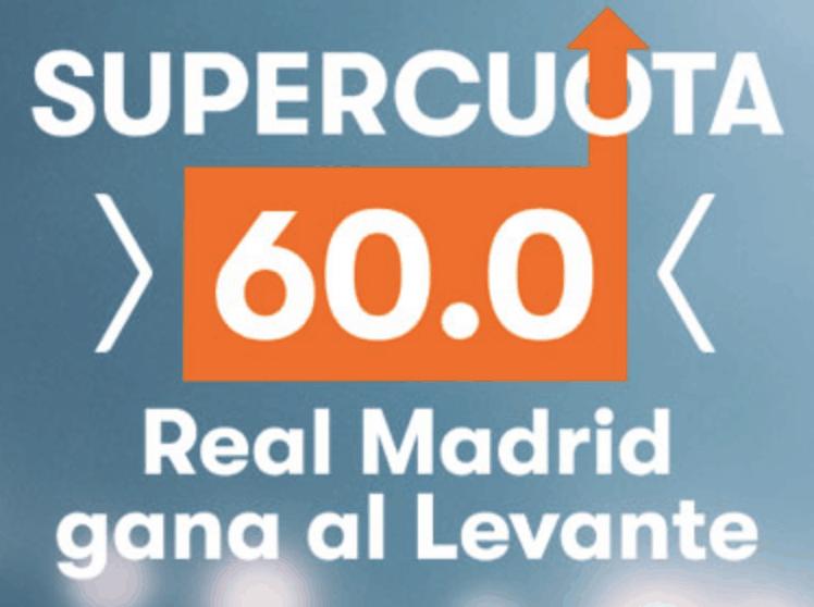 Supercuota Betsson La Liga : Levante UD - Real Madrid