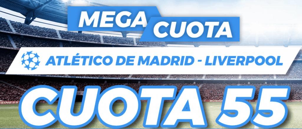 Supercuota Champions League Pastón : Atlético de Madrid - Liverpool