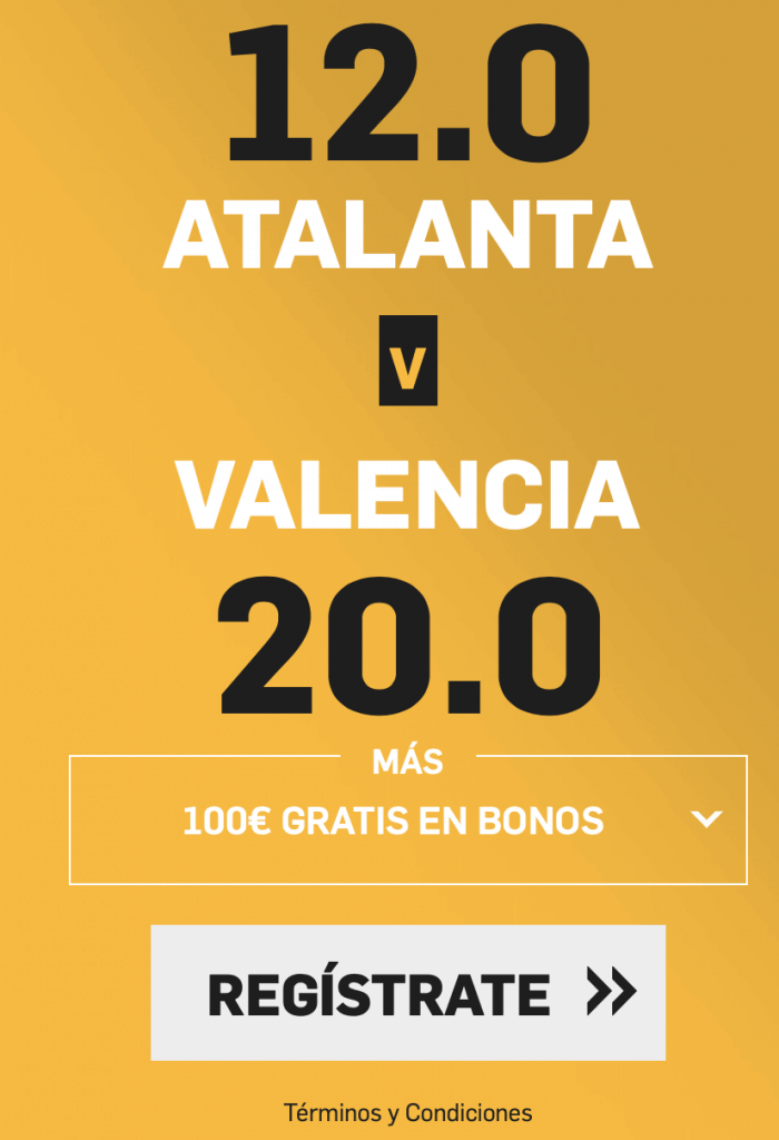 Supercuota Betfair Champions League Atalanta - Valencia CF
