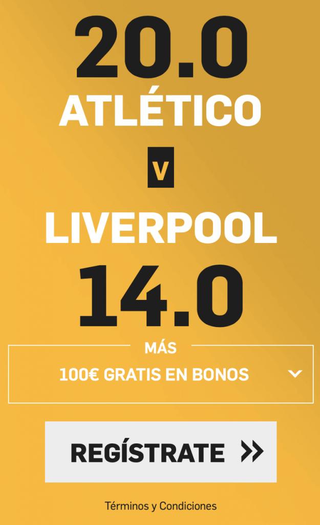 Supercuota betfair Champions League Atlético de Madrid - Liverpool