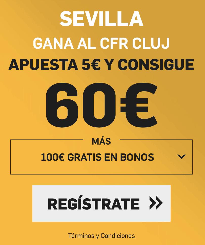 Supercuota betfair Europa League Cluj - Sevilla FC