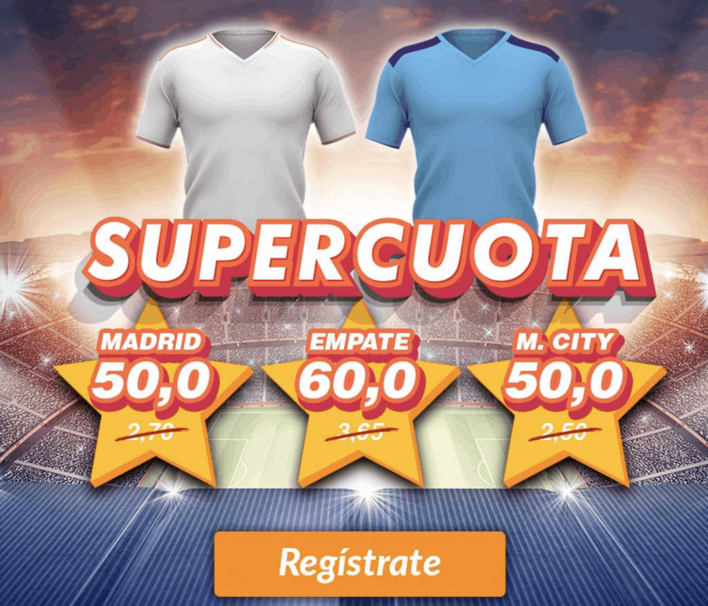Supercuota Casino Barcelona Champions League : Real Madrid - Manchester City