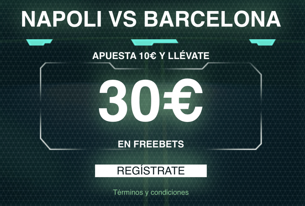 Supercuota Codere Champions League Napoles - Fc Barcelona.