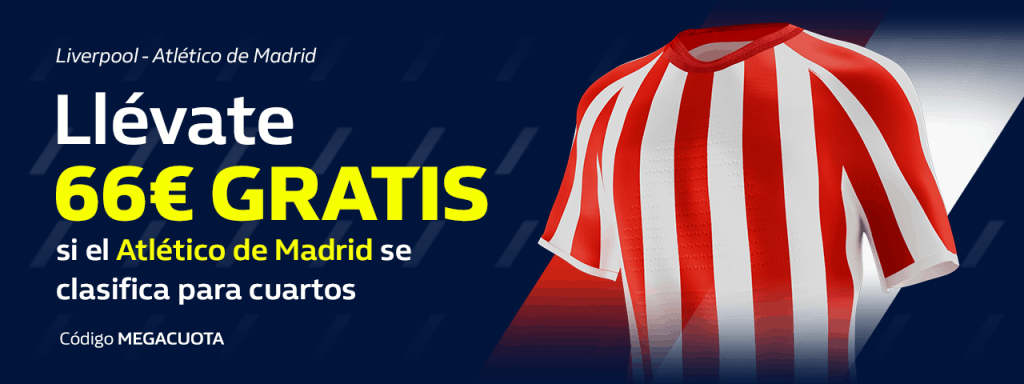 Megacuota William Hill Champions League : El Atlético de Madrid se clasifica a cuota 66