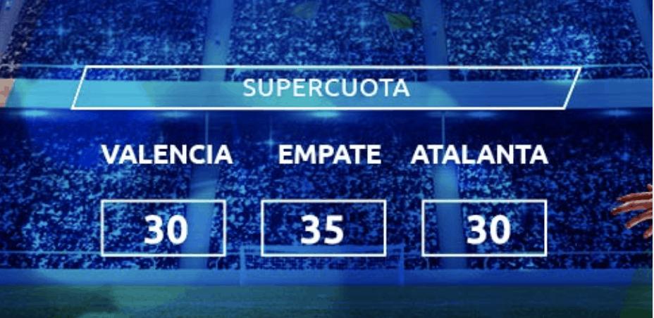 Supercuota Mondobets Champions League Valencia CF - Atalanta