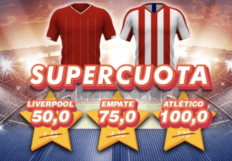Supercuota Casino Barcelona Champions League : Liverpool - Atlético de Madrid