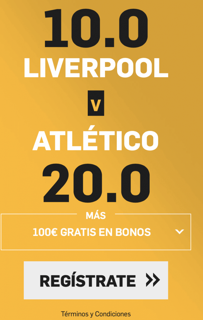 Supercuota betfair Champions League : Liverpool - Atlético de Madrid