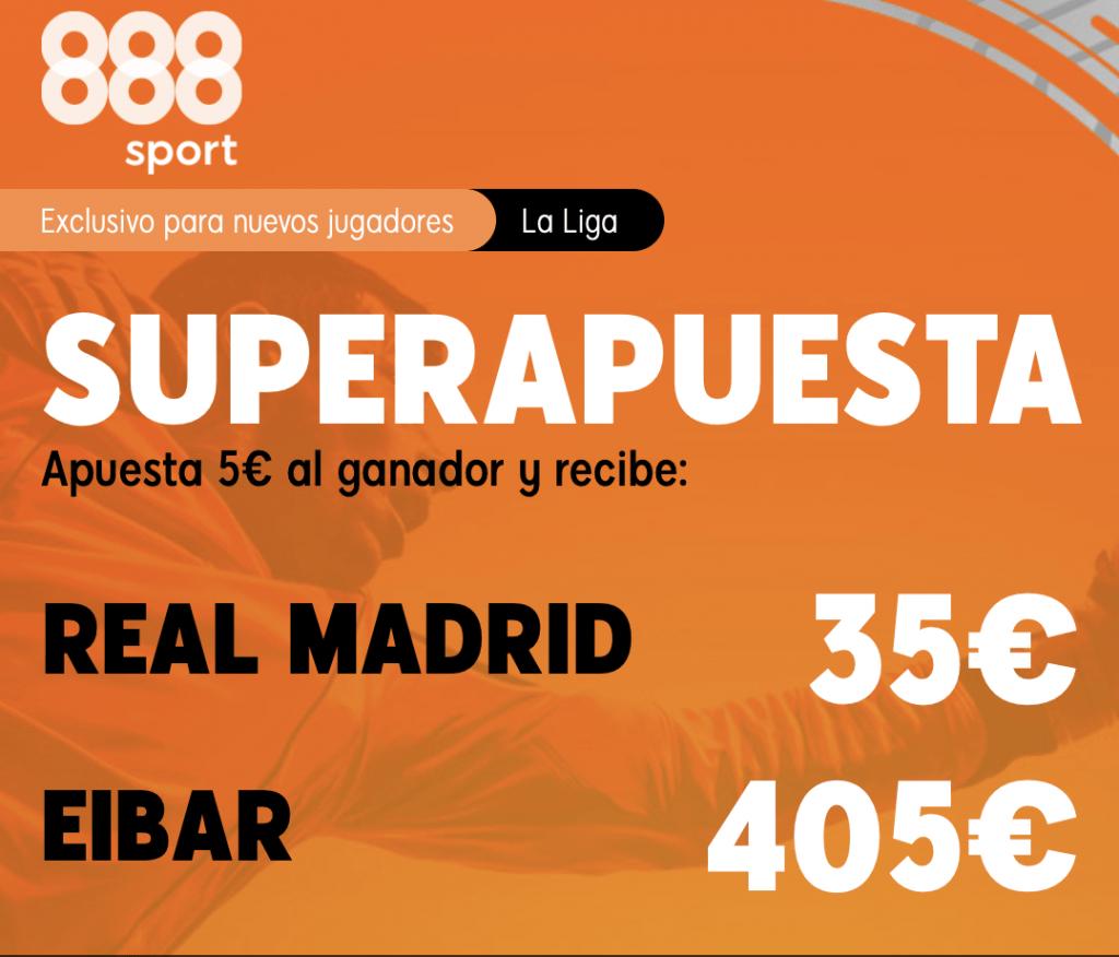Supercuota 888sport Real Madrid - Eibar
